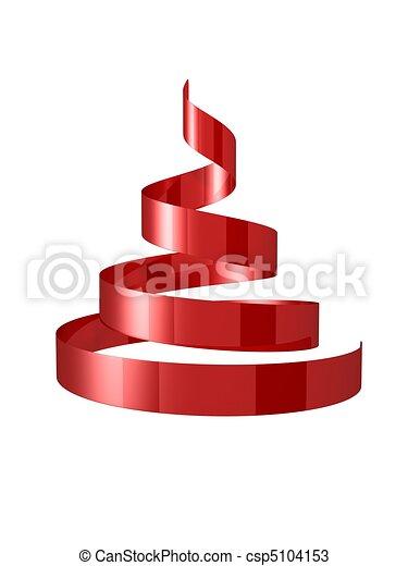 Dibujos de rbol navidad cinta rojo navidad cinta - Cinta arbol navidad ...