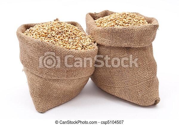 Foto de sacos trigo gr os sacos de trigo gr os - Sac de cafe en grain ...