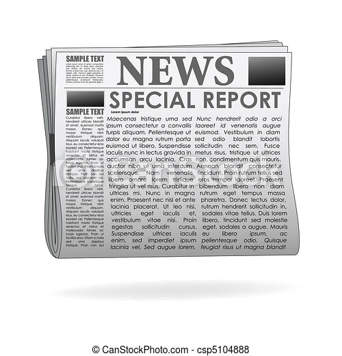 special report  news paper - csp5104888