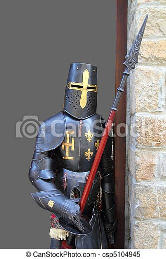 Medieval warrior soldier metal protective wear - csp5104945
