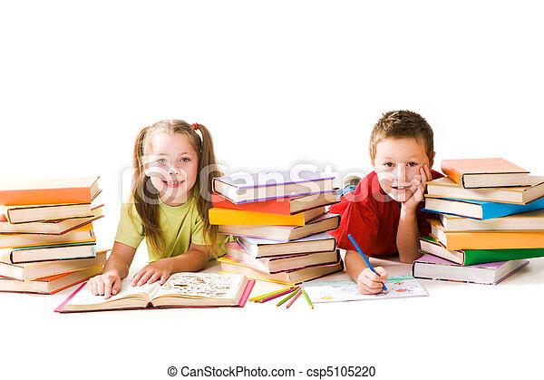 Two schoolkids - csp5105220