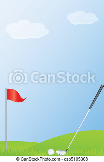 golf stick and golf ball - csp5105308