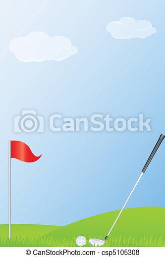 golf stick and golf ball - csp5105308