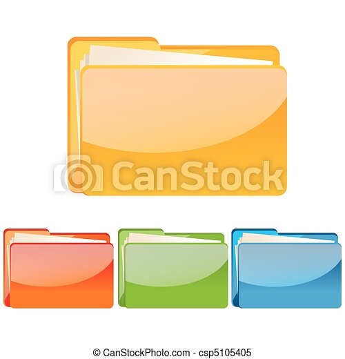 set of colorful folder icon - csp5105405