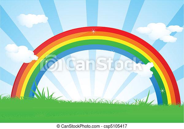 vibrant rainbow - csp5105417