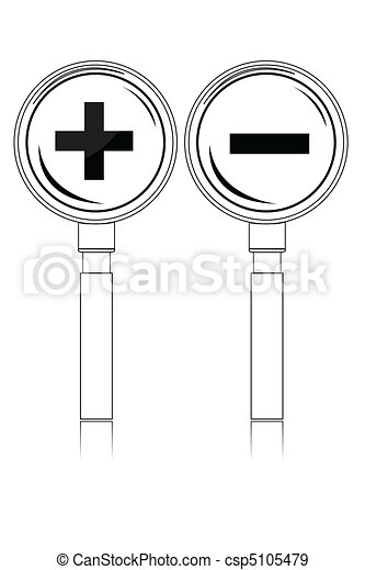 increase-decrease magnifiers icons - csp5105479