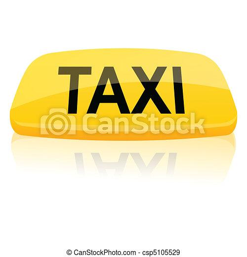 taxi sign - csp5105529