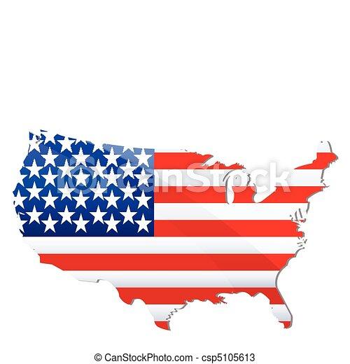 flag of united states of america - csp5105613
