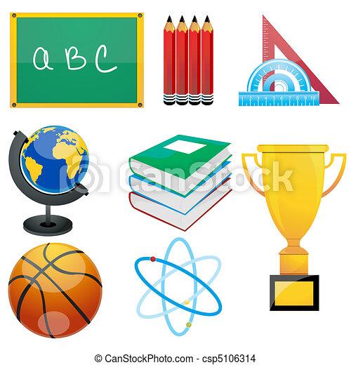 set of education elements - csp5106314