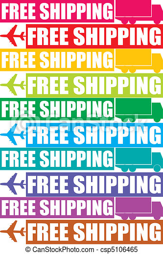 colorful free shipping tag - csp5106465
