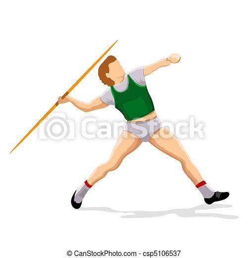 javeline player - csp5106537
