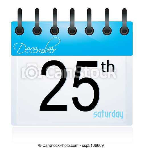 calender page for 25th december - csp5106609