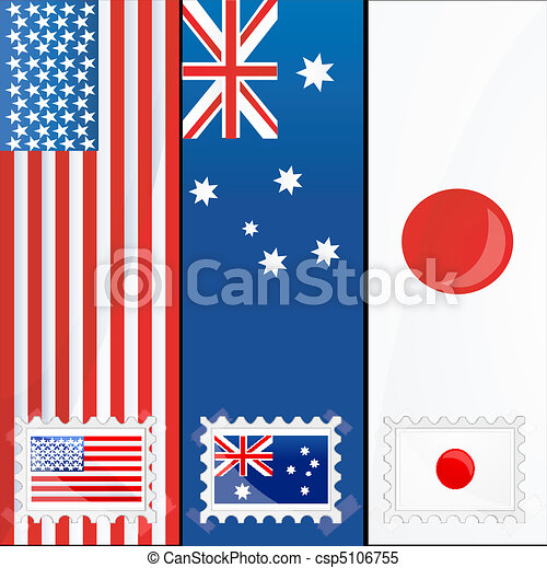 flags of different nations - csp5106755