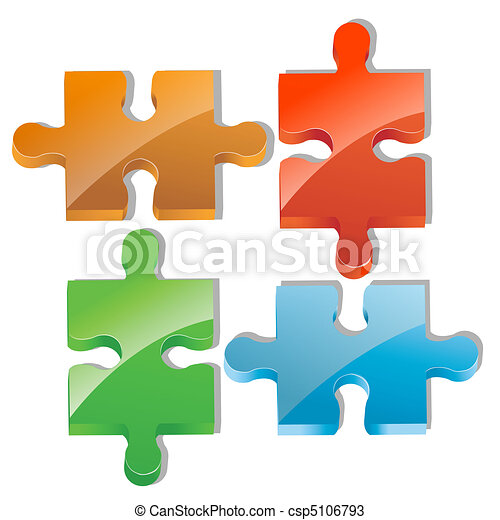 pieces of jigsaw puzzle - csp5106793