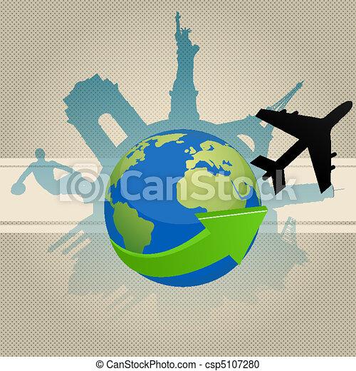 famous monument around globe - csp5107280