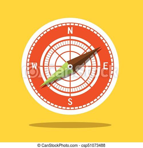Compass Icon - Wind Rose Symbol - csp51073488