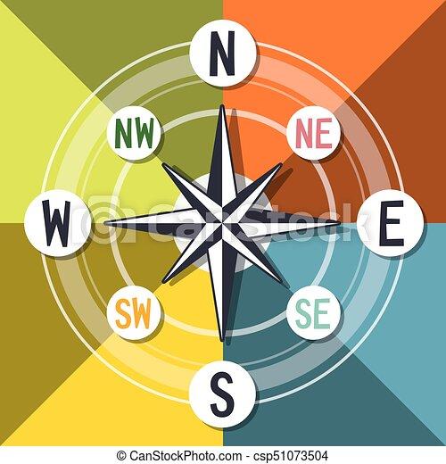 Compass Vector Colorful Design - csp51073504