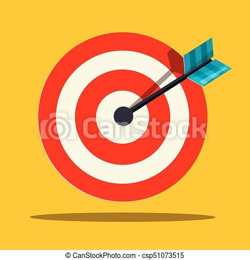 Target Icon. Vector Flat Design Illustration. - csp51073515