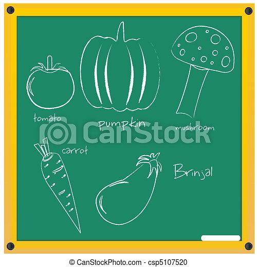 vegetable sketch - csp5107520