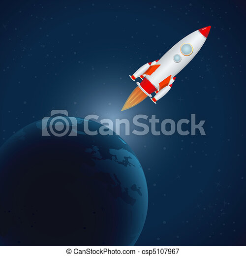 rocket in universe - csp5107967