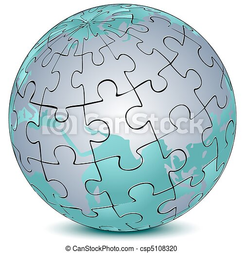 earth jigsaw puzzle - csp5108320