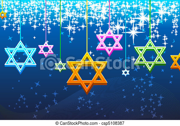multicolorful hanukkah card - csp5108387
