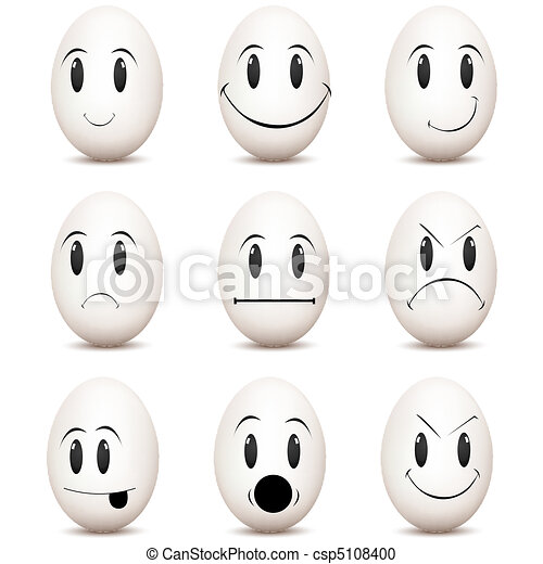 various facial expressions - csp5108400