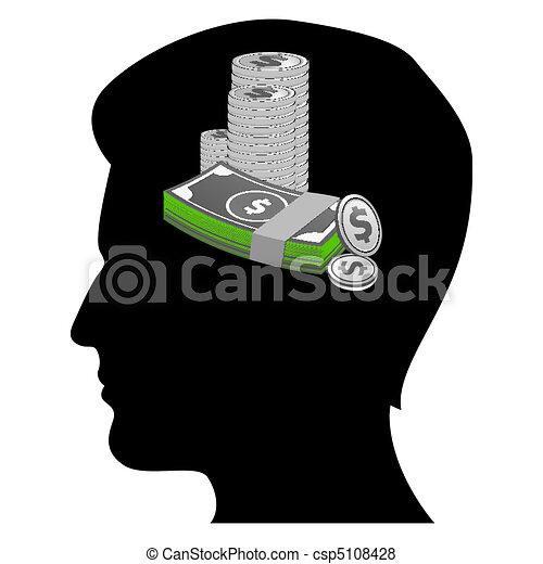 money minded businessman - csp5108428