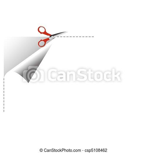 cutting paper - csp5108462