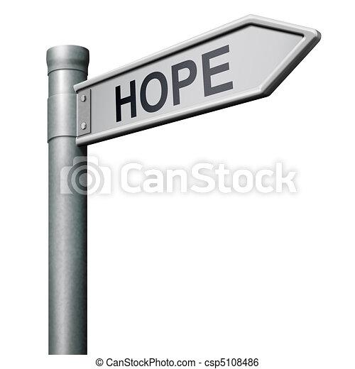 hope road sign - csp5108486