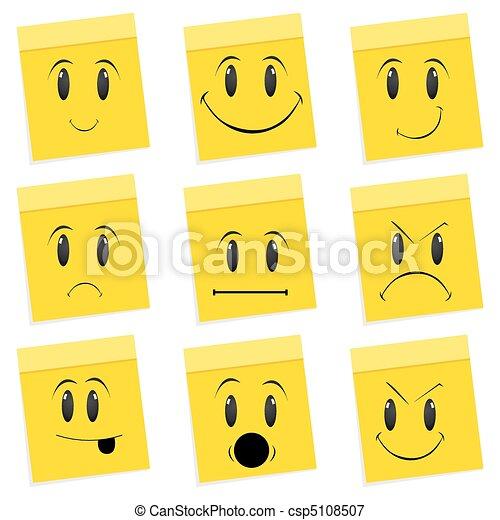 various face expressions - csp5108507