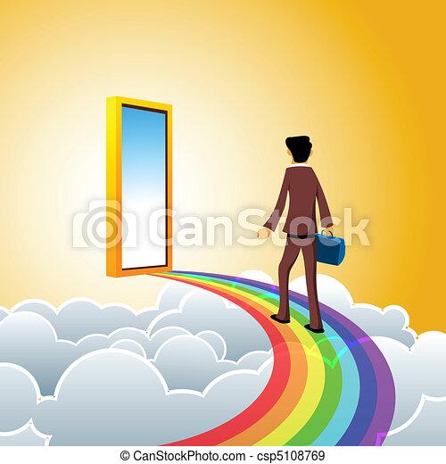 business man on heaven - csp5108769