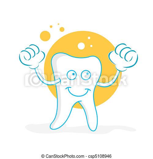happy teeth - csp5108946