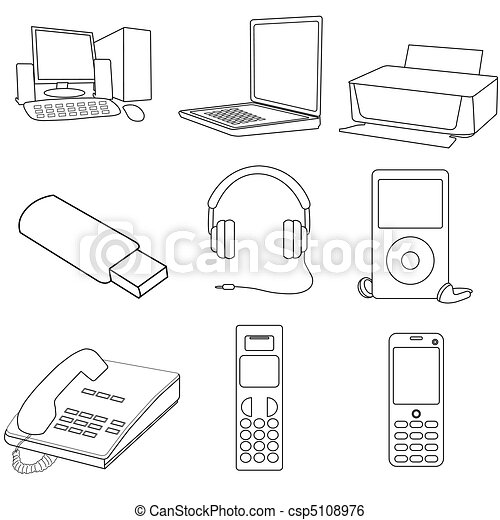 communication icons - csp5108976