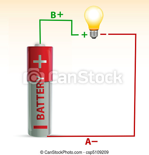 battery with bulb - csp5109209