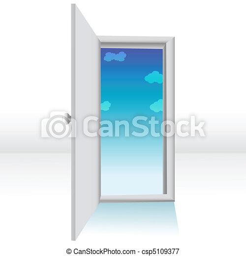 Door Opening Drawing Vector Open Door