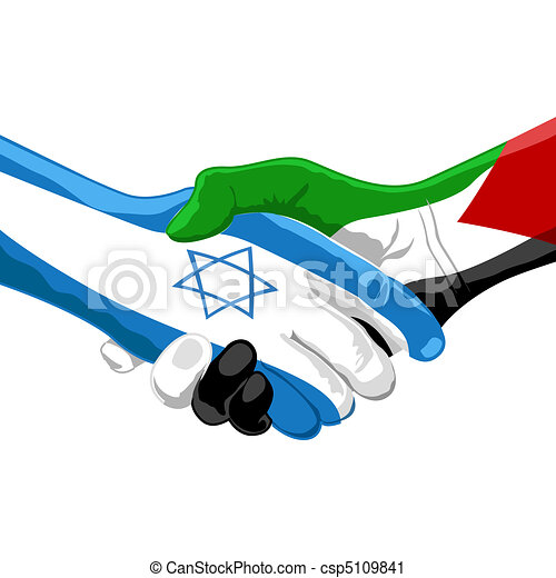 peace between israel and palestine - csp5109841