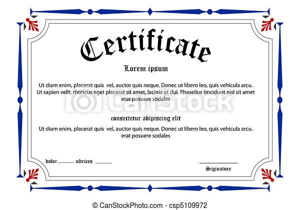 education certificate - csp5109972