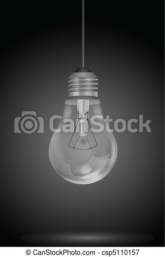 hanging electric bulb - csp5110157