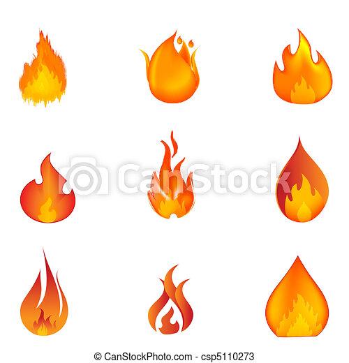 Formen, Feuer Vektor