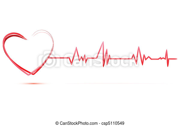 heart with cardiology - csp5110549