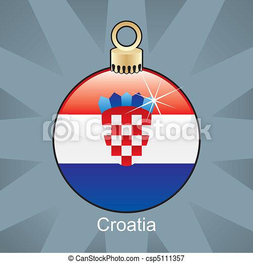 vektoren illustration von zwiebel fahne kroatien. Black Bedroom Furniture Sets. Home Design Ideas