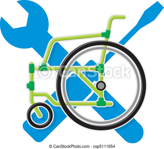 Wheelchair service vector - csp5111654