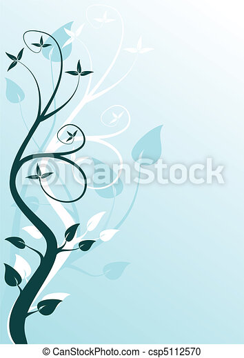 An abstract cyan floral design - csp5112570