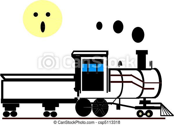 Old-Fashion Train - csp5113318