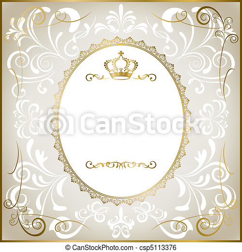 Abstract white romantic frame - csp5113376