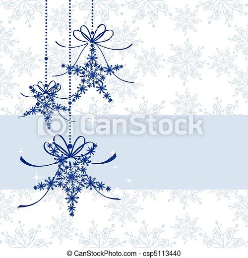Sparkling Christmas greeting card - csp5113440