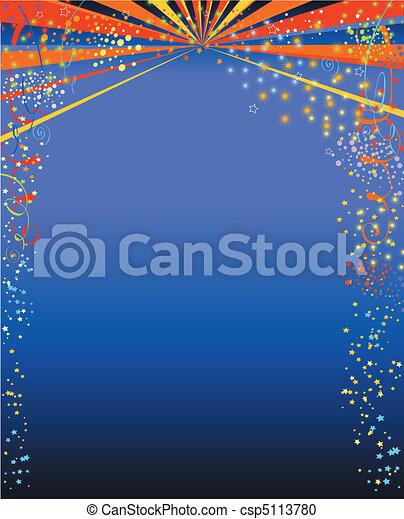 Happy new year background blue - csp5113780
