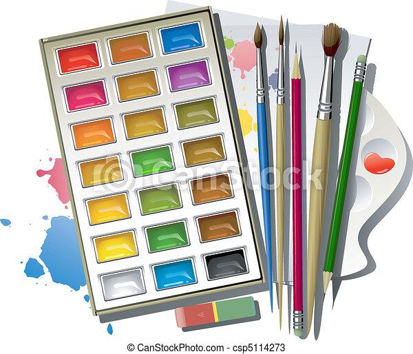 Art supplies - csp5114273