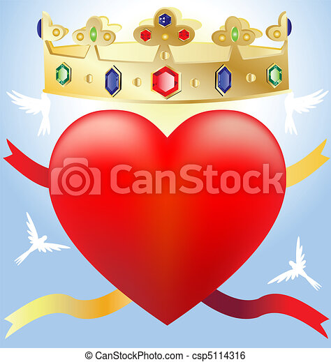 heart in the crown - csp5114316